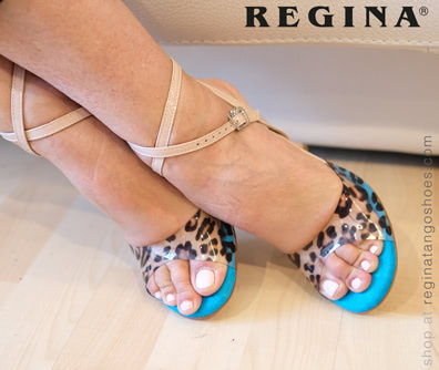 woman tango shoes